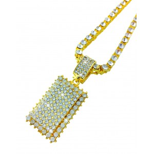 Iced Out Gold Pendant Necklace