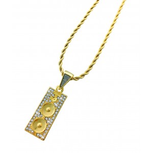 Iced Out Speakers Pendant Necklace