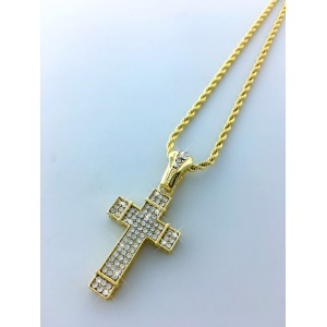 Iced Out Cross Pendant Necklace