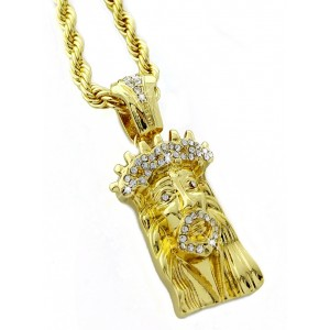 Iced Out Jesus Pendant Necklace