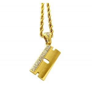 Iced Out Razor Pendant Necklace